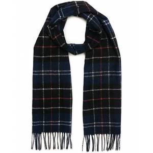 Barbour Lifestyle Tartan Lambswool Scarf Navy/Red