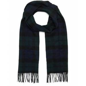 Barbour Lifestyle New Check Tartan Lambswool/Cashmere Scarf Blackwatch