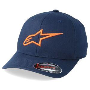 Alpinestars Keps Ageless Curve Navy/Orange Flexfit - Alpinestars - Blå Flexfit