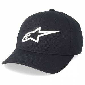 Alpinestars Keps Ageless Mock Mesh Black/White Flexfit - Alpinestars - Svart Flexfit