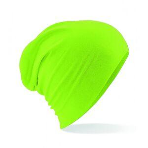 Beechfield Hemsedal Cotton Slouch Beanie Lime Green