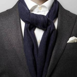 Eton Marinblå ullhalsduk