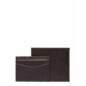 Barbour Wallet/Card Giftset Accessories Wallets Cardholder Brun Barbour