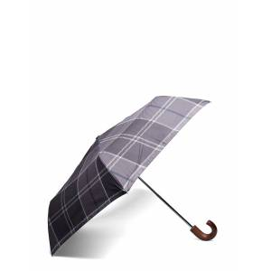 Barbour Tartan Mini Umbrella Paraply Grå Barbour