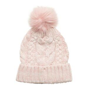 GAP Kids Cable-Knit Pom Beanie Accessories Headwear Hats Rosa GAP