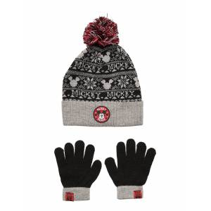Disney Set 2 Pcs Hats & Gloves Accessories Headwear Hats Grå Disney