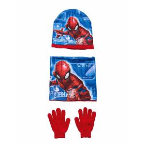 Marvel Set 3pces Cap&Collar&Gloves Accessories Headwear Hats Blå Marvel