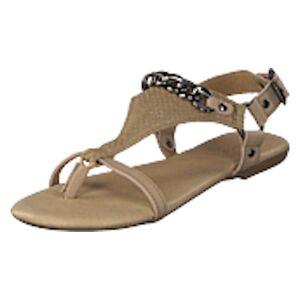 Bianco Triangle Chain Sandal Sand, Shoes, beige, EU 39