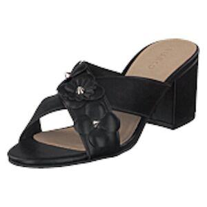 Bianco Flower Cross Sandal Black, Shoes, svart, EU 38