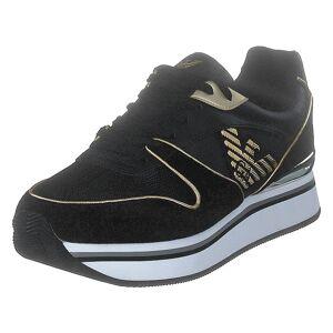 Giorgio Armani Emporio Armani Sneaker Pelle K476 Black/light Gold, Dam, Skor, , Guld, EU 37