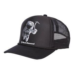 Black Diamond Flat Bill Trucker Hat Svart