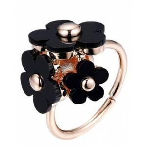 Everneed flower ring Black Honey Daisy Ring (U)