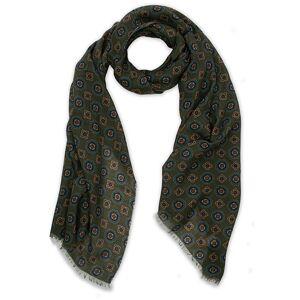 Altea Medallion Printed Wool Scarf Green