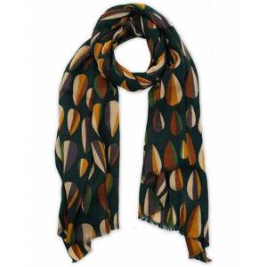 Altea Printed Wool Scarf Green