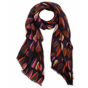 Altea Printed Wool Scarf Purple