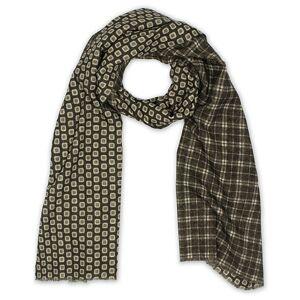 Altea Double Side Printed Wool Scarf Green