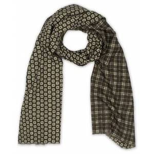Altea Double Side Printed Wool Scarf Green