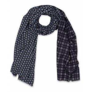 Altea Double Side Printed Wool Scarf Navy
