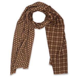 Altea Double Side Printed Wool Scarf Brown