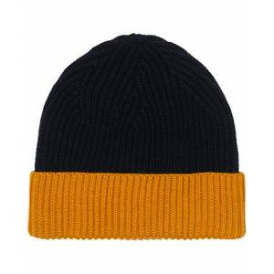 Altea Two Tone Wool Beanie Navy/Yellow