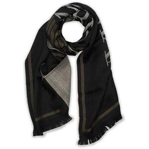 Giorgio Armani Emporio Armani Wool Logo Scarf Black