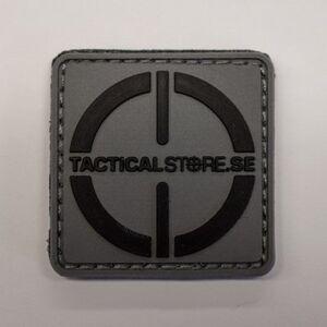 Tacticalstore PVC Patch 4x4cm - Grå/Svart