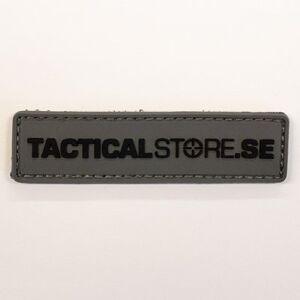 Tacticalstore PVC Patch 8x2cm - Grå/Svart