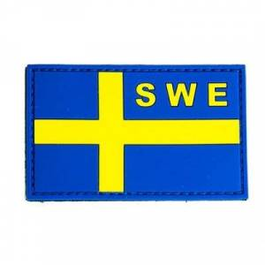 Tacticalstore PVC Patch Svenska Flaggan - Gul/Blå