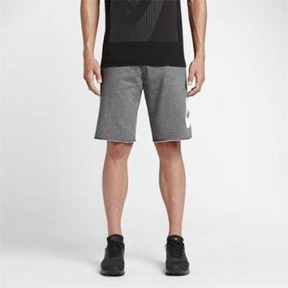 Bermuda Nike M Nsw Ft Gx Masculina - Masculino-Cinza+Branco