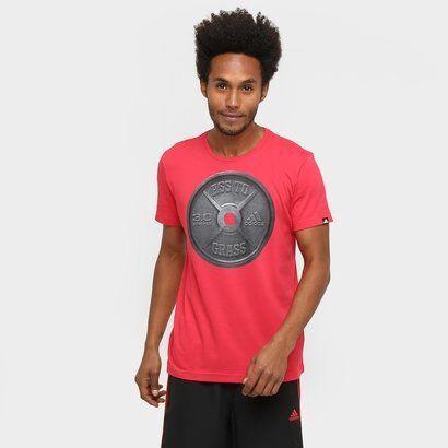 Camiseta Adidas Ass To Grass Masculina - Masculino-Vermelho