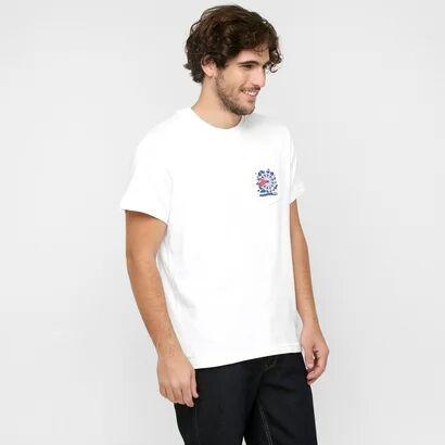 Camiseta Reebok Classic Com Bolso - Masculino-Branco