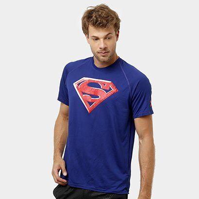 Camiseta Under Armour Superman 2.0 Masculina - Masculino-Marinho
