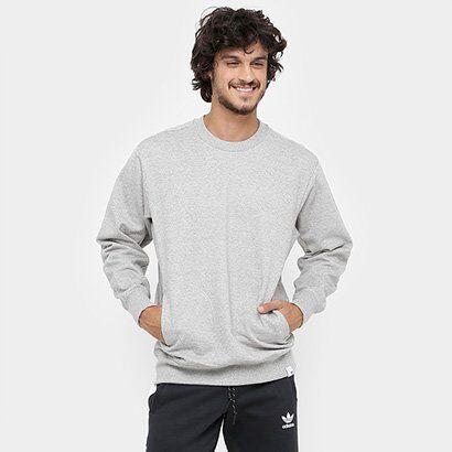 Moletom Adidas Xbyo - Masculino-Cinza