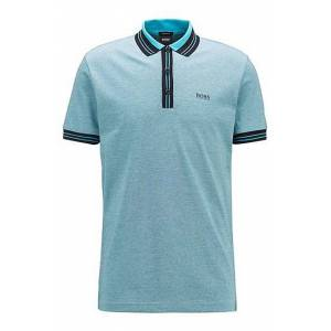 Boss Cotton polo shirt with three-coloured micro-piqué structure