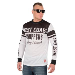 West Coast Choppers T-Shirt Langærmet West Coast Choppers OG Mesh, Hvid/Sort