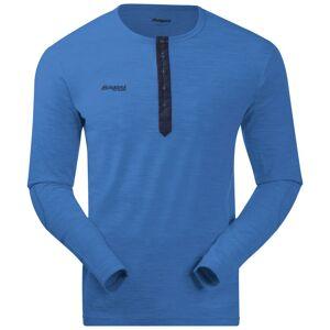 Bergans Henley Wool Shirt Blå Blå M
