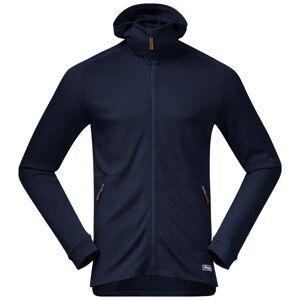 Bergans Tuva Light Wool Hood Jacket Men's Blå Blå XL