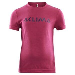Aclima LightWool T-shirt Children Pink Pink 110