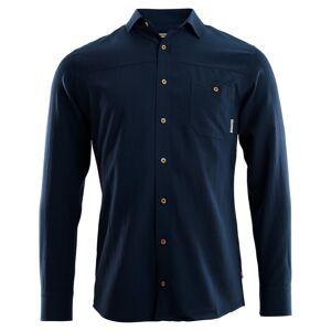 Aclima LeisureWool Woven Wool Shirt Man Blå Blå XL
