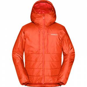 Norrøna Men's Trollveggen Primaloft100 Zip Hood Orange Orange XL