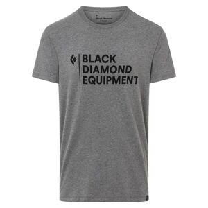 Black Diamond Men's Stacked Logo Tee Grå Grå S