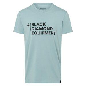 Black Diamond Men's Stacked Logo Tee Blå Blå XL