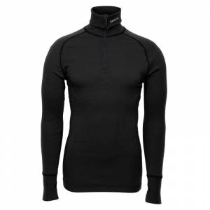BRYNJE Arctic Zip Polo Shirt with Thumbfingergrip Sort Sort XS