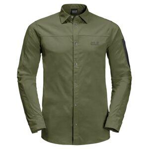 Jack Wolfskin Men's Kenovo LS Shirt Grøn Grøn S