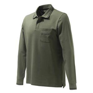 Beretta Men's Airmesh Polo Long Sleeve Grøn Grøn S
