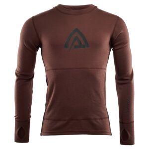 Aclima WarmWool Hood Sweater Man-2019 Brun Brun XS