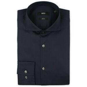 Boss Jason Slim Fit Stretch Shirt Navy men 42 - L Blå