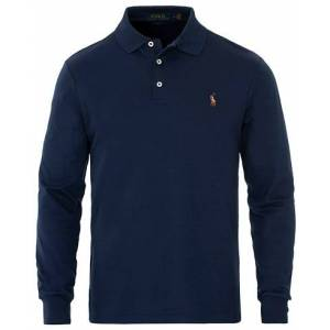 Polo Ralph Lauren Pima Cotton Long Sleeve Polo French Navy men L Blå