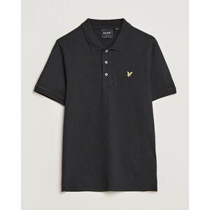 Scott Lyle & Scott Plain Pique Polo Shirt Jet Black men M Sort