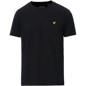 Scott Lyle & Scott Plain Crew Neck Cotton T-Shirt Jet Black men XL Sort